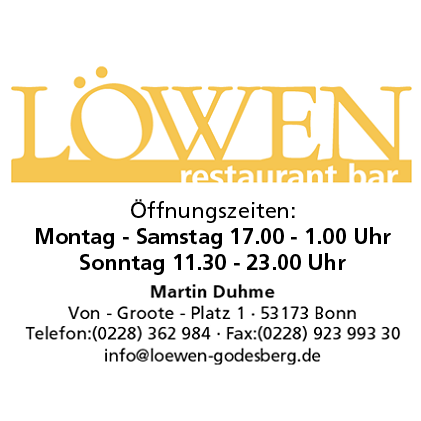 Loewen Restaurant Bar Bonn Bad Godesberg